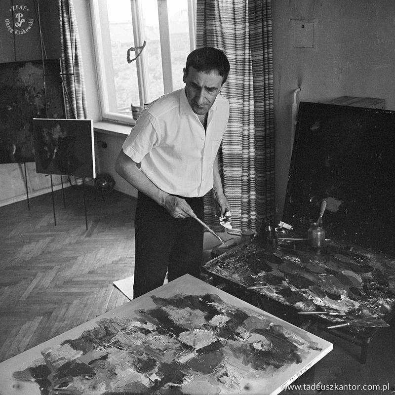 Kantor in his workshop at Elbląska Street
